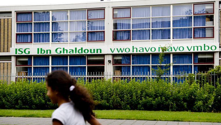 De Ibn Ghaldoun-school in Rotterdam. Beeld anp
