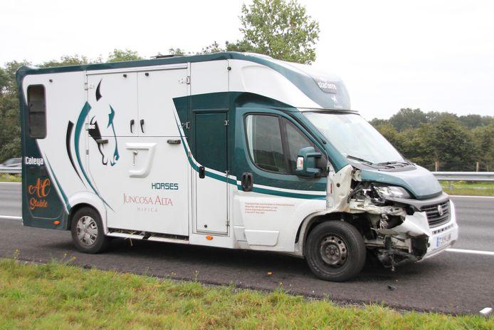 Het ongeluk met de wagen gebeurde op de A1