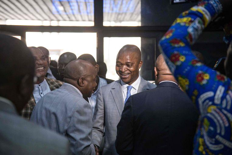 Kabila's coalitie heeft Emmanuel Ramazani Shadary, oud-minister van Binnenlandse Zaken, aangeduid als nieuwe kandidaat. Beeld AFP