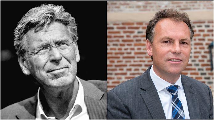 Wethouder Willy Brink van Druten (links) en de Wijchense wethouder Geert Gerrits.