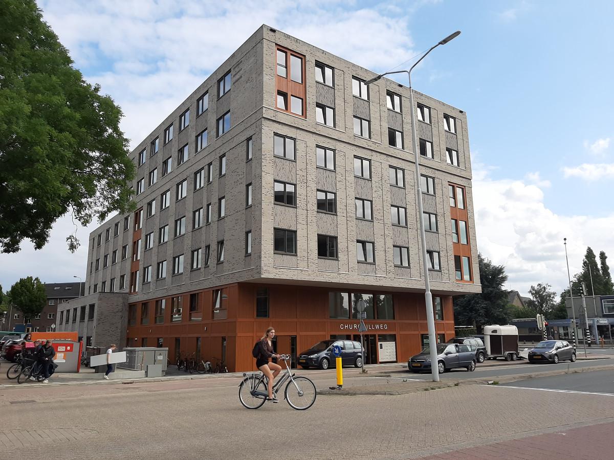 Het nieuwe studentencomplex aan de Churchillweg in Wageningen.