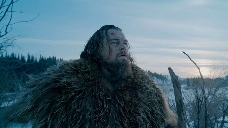 Leonardo DiCaprio als Hugh Glass in 'The Revenant'. Beeld Belgaimage