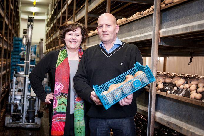 René en Marja van de Vorle van het Paddenstoelenhuis in Berghem
