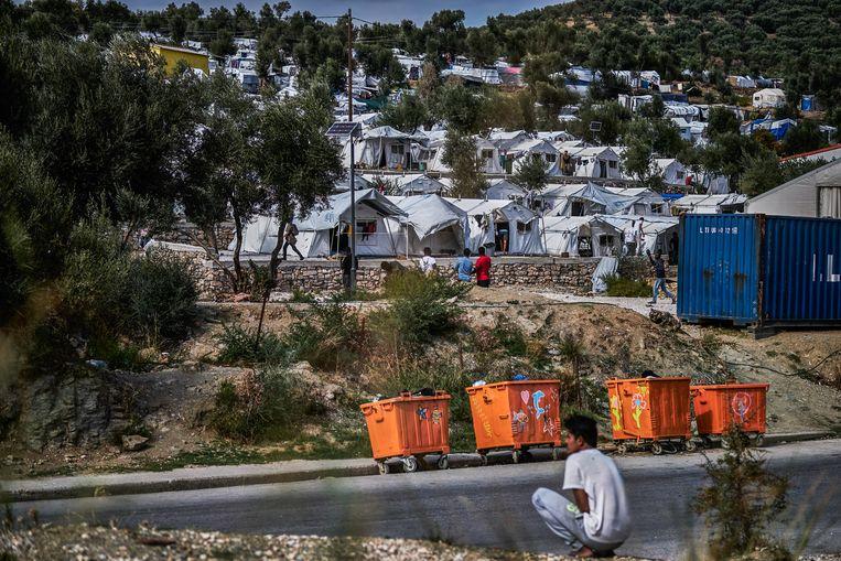 Het vluchtelingenkamp Olive Grove Zuid, dat is onder handen genomen door Movement On The Ground. Beeld Joris van Gennip