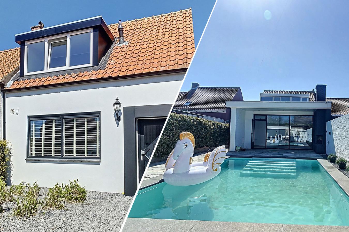 Huis met mooi zwembad in Biervliet.