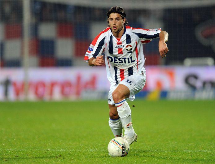 Paul Quasten namens Willem II in actie in het seizoen 2008/2009.