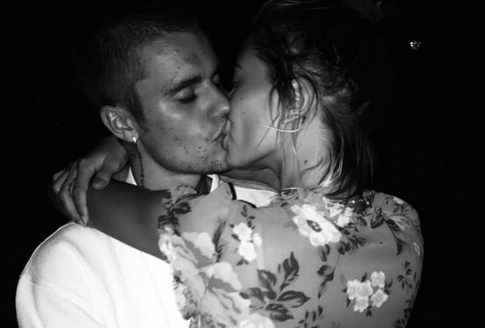 Justin en Hailey op Instagram.