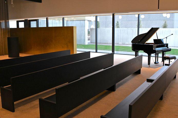 In de kleinste aula zijn 100 zitplaatsen.