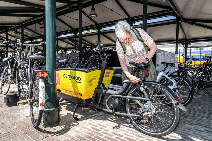 Op station Brandevoort in Helmond staan sinds kort auto's en bakfietsen van Hely.