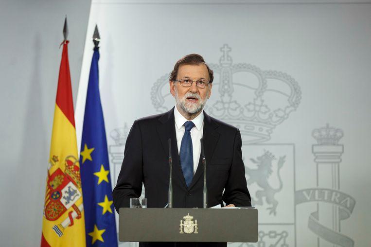 De Spaanse premier Mariano Rajoy. Beeld getty