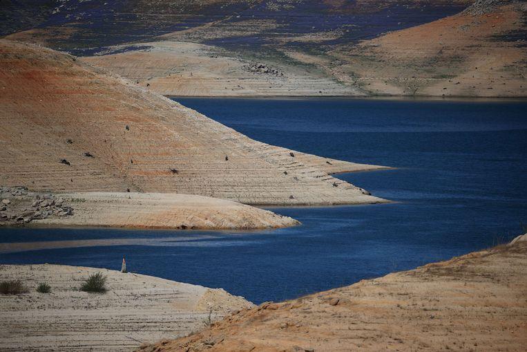 Lake Oroville in Californië, VS Beeld AFP