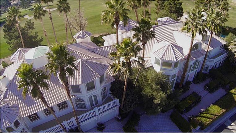 De bewute villa in Las Vegas.
