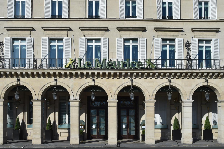 Hotel Le Meurice in Parijs Beeld Corbis via Getty Images