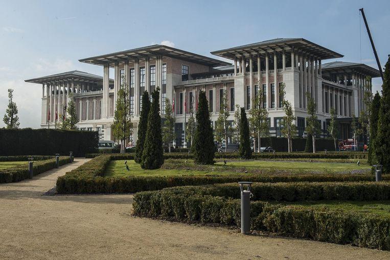 Het presidentieel paleis in de Turkse hoofdstad Ankara. Beeld EPA