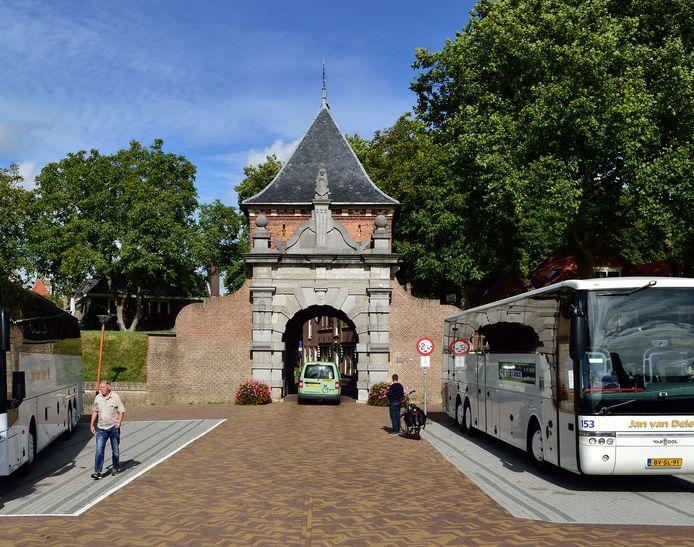 De eeuwenoude Veerpoort in Schoonhoven.
