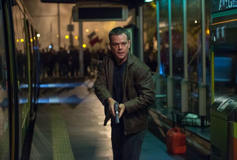 Matt Damon als ex-CIA'er Bourne in Jason Bourne (Paul Greengrass, 2016). Beeld AP
