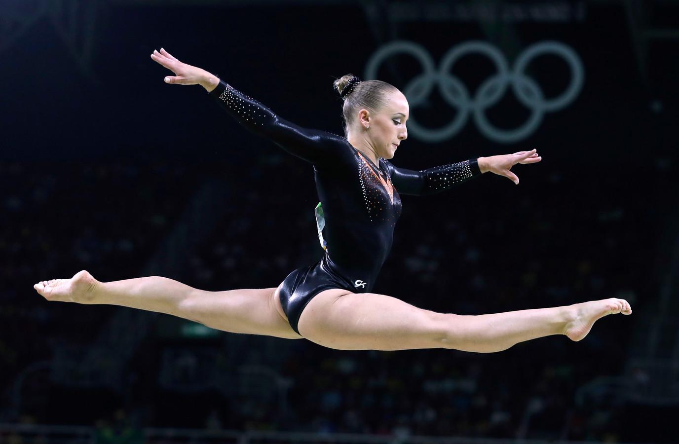 Sanne Wevers tijdens de Olympische Spelen in Rio de Janeiro in 2016.