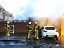 Flinke brand in garagebox in Dongen