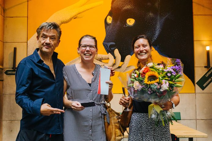 Bart Peeters gaf Han en Anneleen een mooie bos bloemen