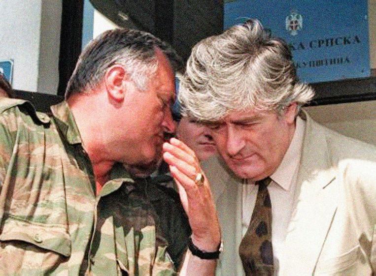 Ratko Mladic & Radovan Karadzic Beeld INTERNET