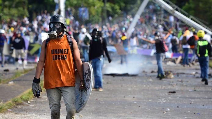 Protesten tegen de omstreden verkiezingen in Venezuela.