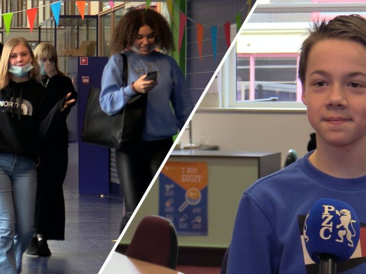 Middelbare scholieren zijn terug in de klas: 'Fijner dan achter de laptop'