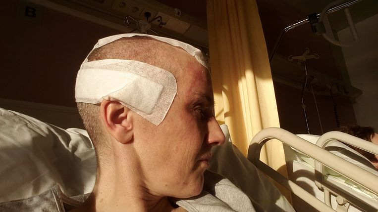 Gerbrich Reynaert in het ziekenhuis. Beeld Gerbrich Reynaert