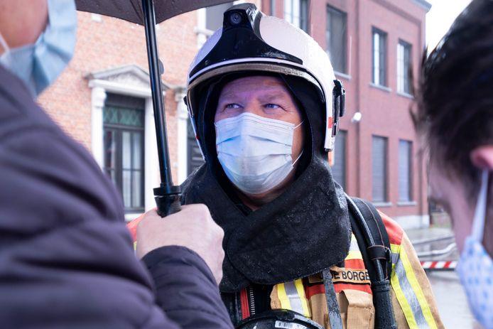 Brandweermajoor Jan De Borger.