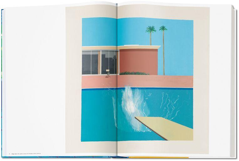 'A Bigger Splash' uit 1967 in 'A Bigger Book'. Beeld RV/Taschen