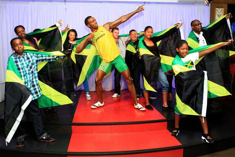ONE TO WATCH: Ook bij Madame Tussauds nabij Baker Street komen de Olympische Spelen tot leven. Beeld getty