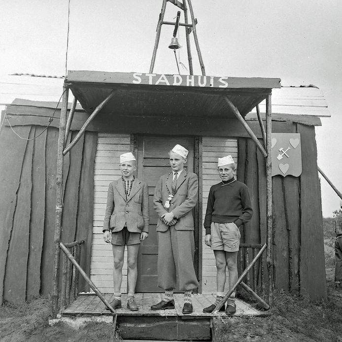 Jongensstad in Geldrop. In 1957