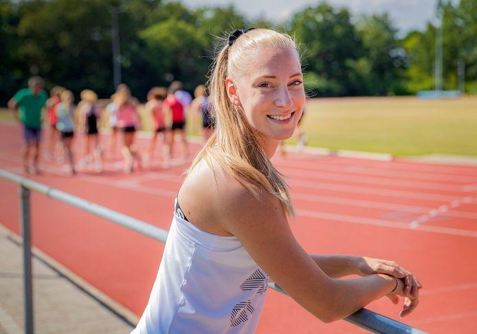 Eefje Boons op haar trainingsbaan in Deventer.