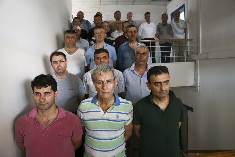 Tienduizenden personen werden gearresteerd na de couppoging.  Beeld Getty