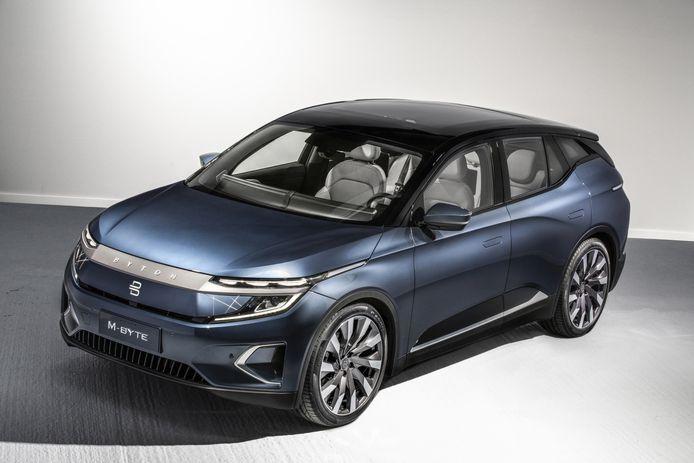 De Byton M-Byte is een van de Chinese auto's die de Europese consument moet verleiden de komende jaren.