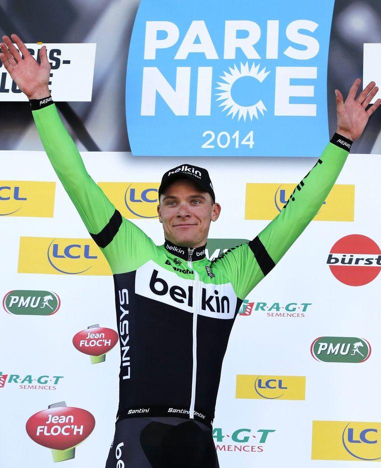 Moreno Hofland won een etappe tijdens Paris-Nice. Beeld epa