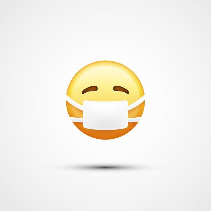 De mondkapje-emoji groeit aan populariteit door het coronavirus.