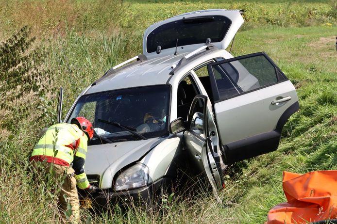 De bij het ongeval betrokken auto.