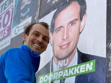 Eindhovense CDA-wethouder iets te enthousiast met megaposter van Wopke Hoekstra