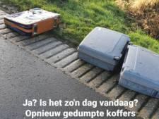 Mysterieuze kofferdumping houdt wijkagent Staphorst bezig: 'Heb ik nog niet eerder meegemaakt'