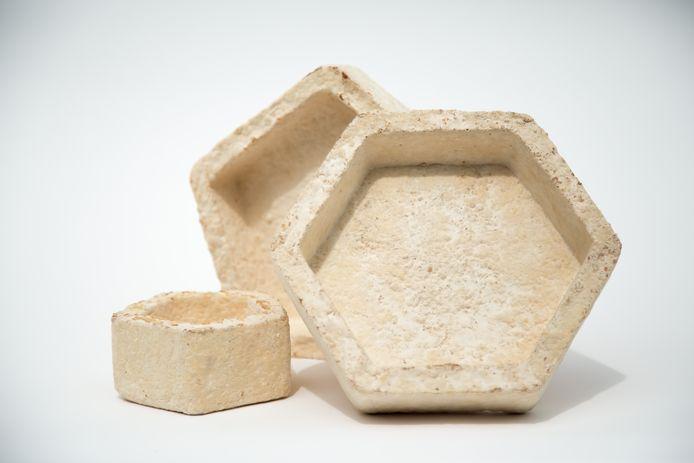 Het bedrijf Mogu ontwerpt verschillende vormen van het materiaal waar we in de toekomst huizen mee zouden kunnen bouwen