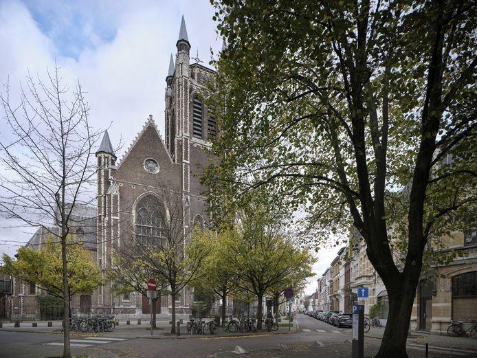 De Sint-Hubertuskerk aan de Victor Jacobslei in Berchem.