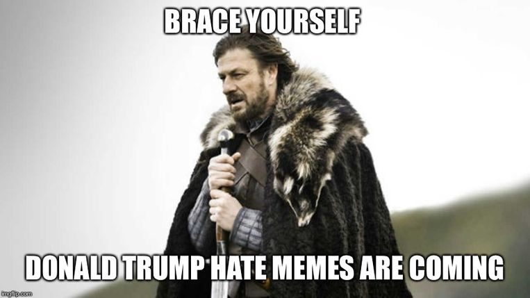 Een 'Brace yourself'-meme. Beeld RV