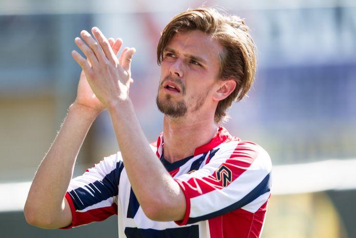 De kans is uiterst klein dat Lucas Andersen het shirt van Willem II weer gaat dragen.