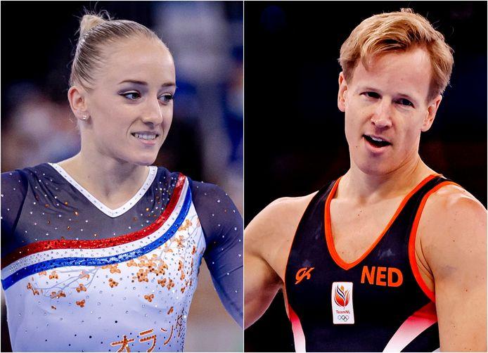Sanne Wevers en Epke Zonderland.