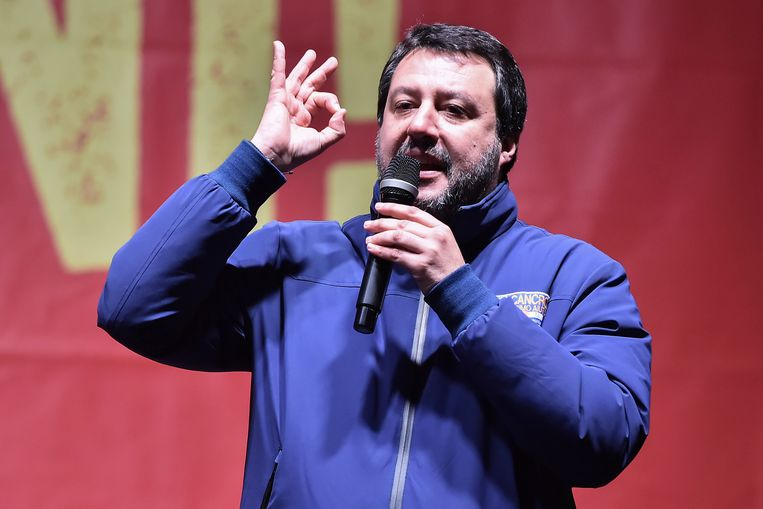 Matteo Salvini, de leider van de uiterst rechtse Lega. Beeld REUTERS