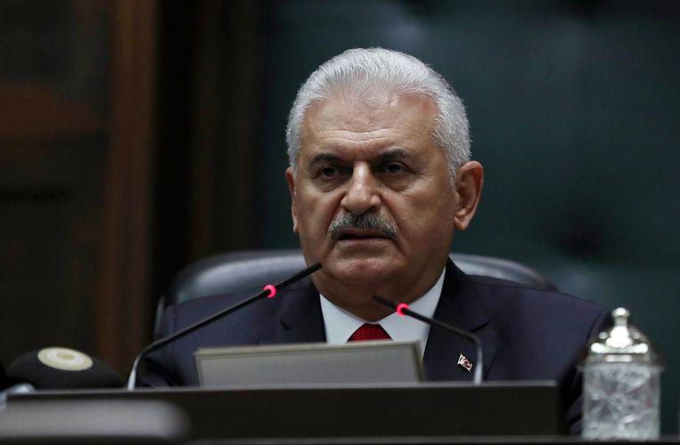 De Turkse eerste minister Binali Yildirim. Beeld AFP