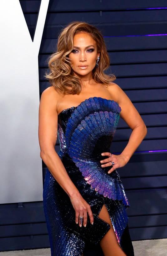 Jennifer Lopez à la soirée Vanity Fair des Oscars