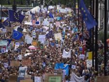 Tienduizenden lopen protestmars tegen Brexit