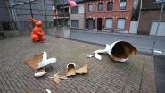 Vandaal vernielt paashazen aan Kruisberg