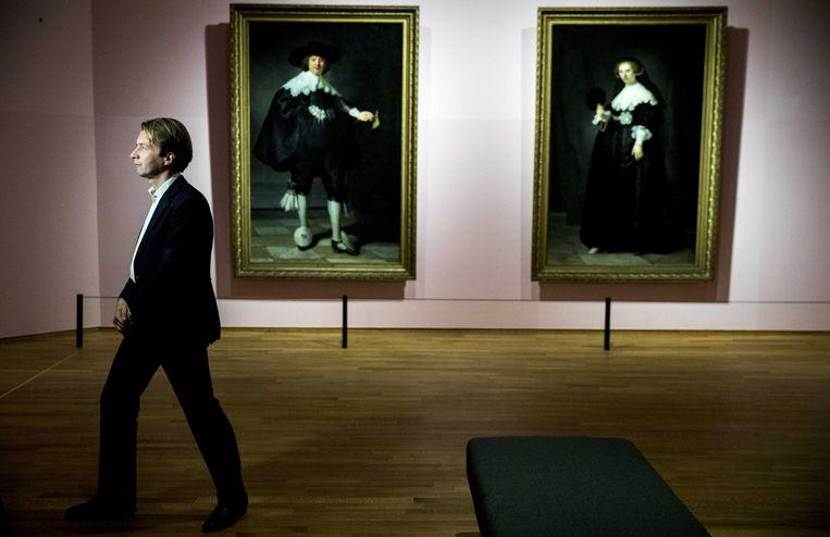 Taco Dibbits, dedirecteur Rijksmuseum voor Rembrandts huwelijksportretten van Marten Soolmans en Oopjen Coppit. Beeld ANP